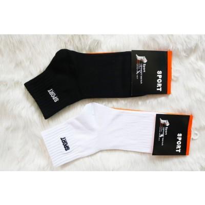 Pack of 2Ankle Socks (Unisex)-Black/White/Grey